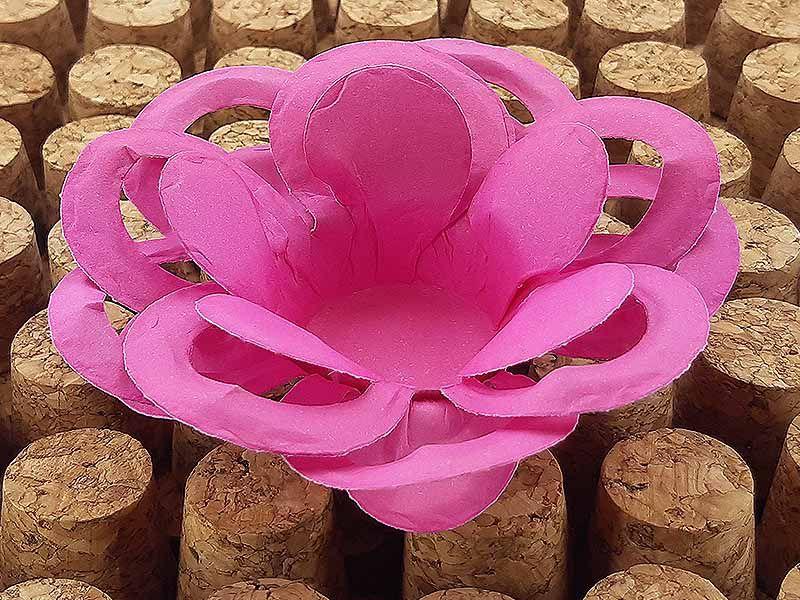 Forminha para Doces Floral Loá Colorset Rosa Escuro - 40 unidades - Decorart - Rizzo Embalagens e Festas