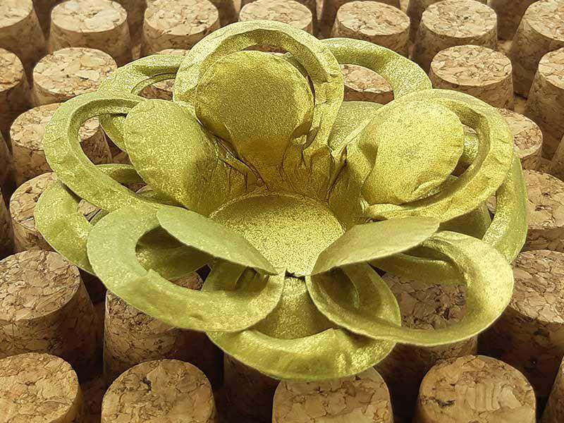 Forminha para Doces Floral Loá Colorset Dourado - 40 unidades - Decorart