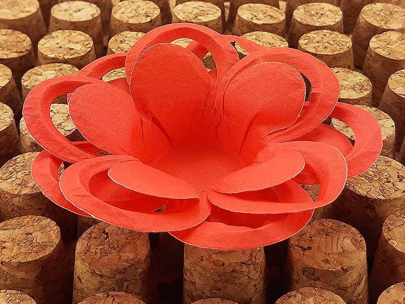 Forminha para Doces Floral Loá Colorset Vermelho - 40 unidades - Decorart - Rizzo Embalagens e Festas