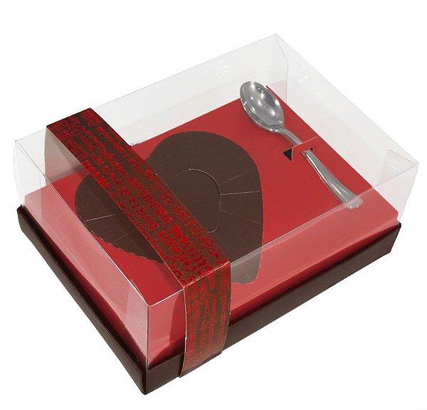Caixa Ovo de Colher Coração de 250g - Classic Vermelha Cód 1402 - 05 unidades - Ideia Embalagens - Rizzo Embalagens