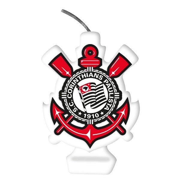 Vela Emblema Festa Corinthians - 1 unidade - Festcolor - Rizzo Embalagens e Festas