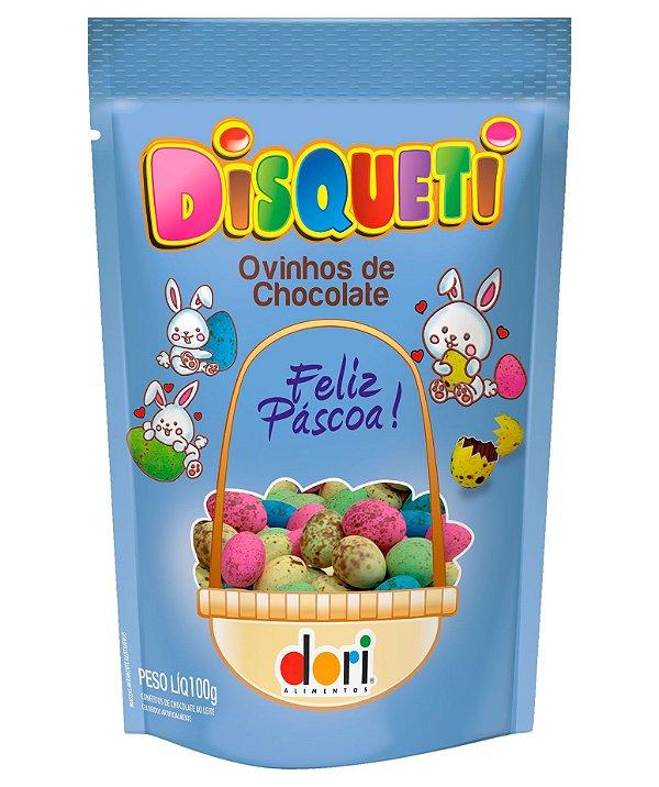 Ovinhos de Chocolate Coloridos Disqueti ao Leite 90g - Dori - Páscoa - Rizzo Embalagens