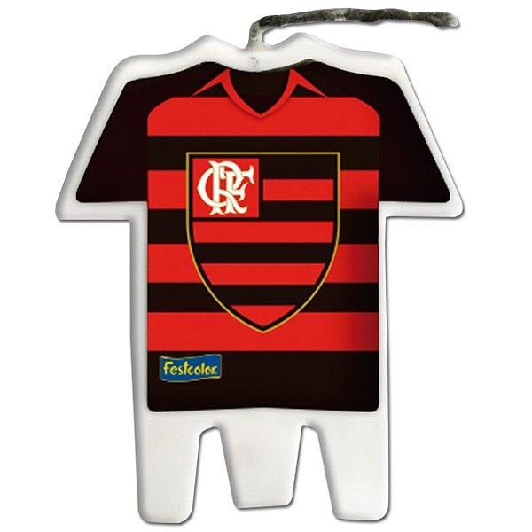 Vela Camisa Festa Flamengo - 1 unidade - Festcolor - Rizzo Embalagens e Festas