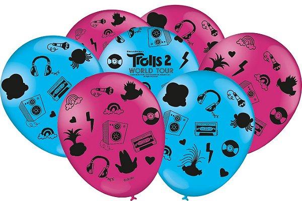 Balão Festa Trolls 2 - 25 unidades - Festcolor Festas - Rizzo Embalagens
