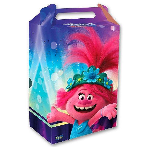 Caixa Surpresa Festa Trolls 2 - 8 unidades - Festcolor - Rizzo Embalagens