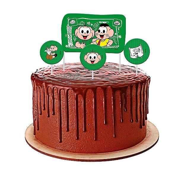 Topo de bolo Festa Cebolinha - 04 unidades - Festcolor - Rizzo Festas