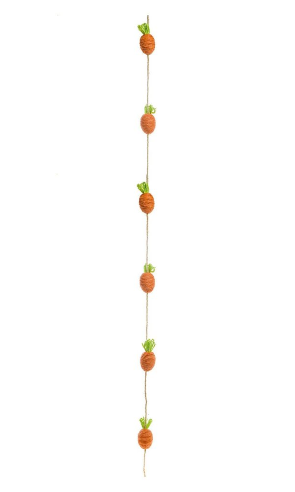 Cordão com Cenouras - 110cm x 4cm x 4cm - Cromus Páscoa - Rizzo Embalagens