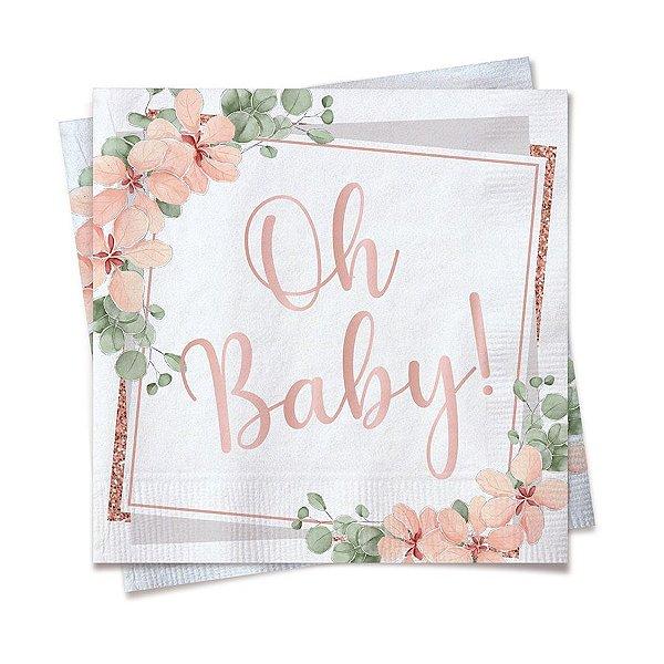 Guardanapo de Papel 25cm - Festa OH Baby Girl - 20 unidades - Cromus - Rizzo Festas