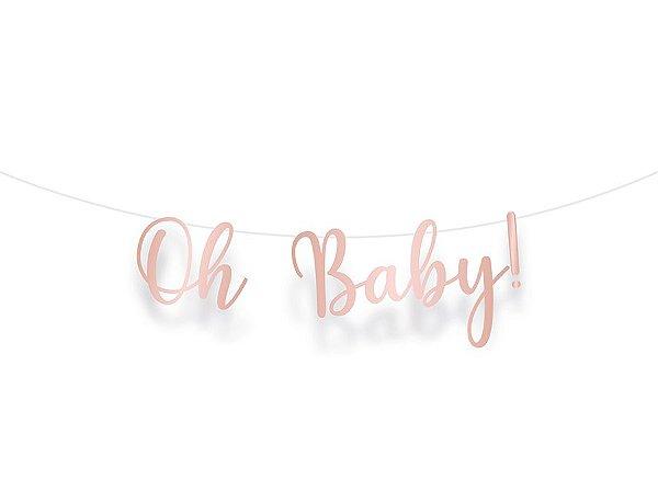 Faixa Decorativa Metalizada Rose Gold- Festa OH Baby Girl - 01 unidade - Cromus - Rizzo Festas