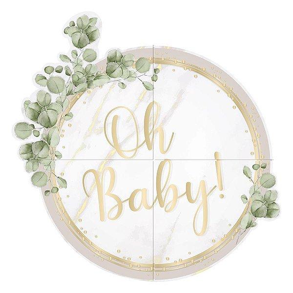 Painel Redondo - Festa OH Baby Boy - 01 unidade - Cromus - Rizzo Festas