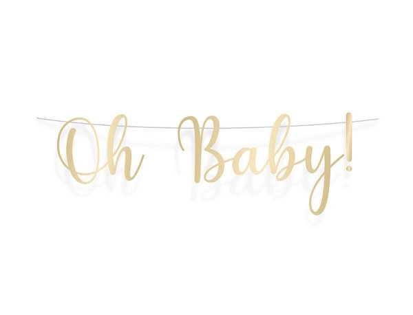 Faixa Decorativa Metalizada - Festa OH Baby Boy - 01 unidade - Cromus - Rizzo Festas