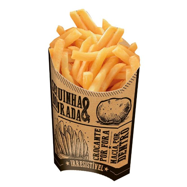 Caixa para Batatas Fritas Kraft - 50 unidades - Food Service Fest Color - Rizzo Embalagens