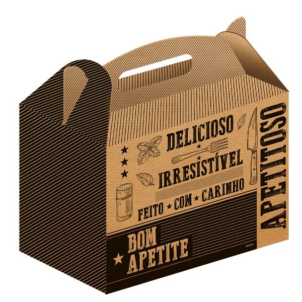 Caixa para Kit Lanches Kraft - 50 unidades - Food Service Fest Color - Rizzo Embalagens