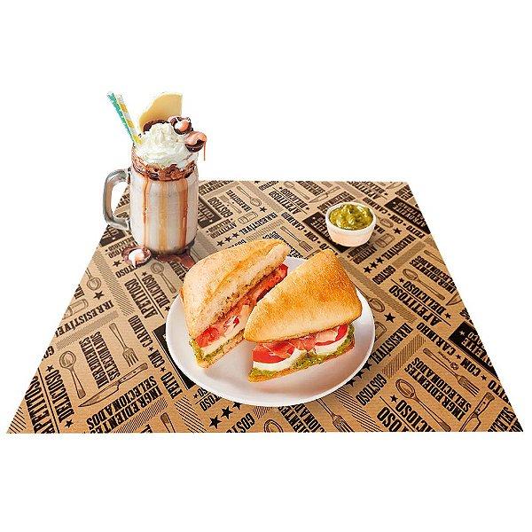 Jogo Americano Kraft - 50 unidades - Food Service Fest Color - Rizzo Embalagens