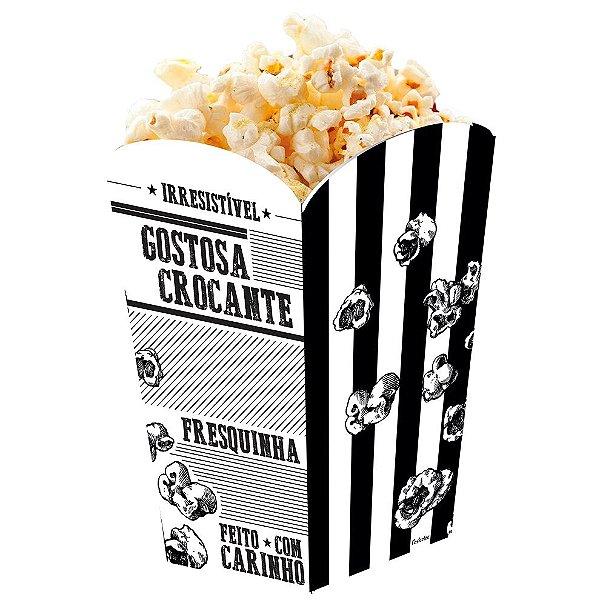 Caixa para Pipoca Preto e Branco - 50 unidades - Food Service Fest Color - Rizzo Embalagens