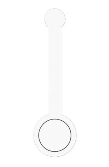 Cartela Lacre Adesivo Personalizável Branco - 12 unidades - Cromus - Rizzo Embalagens