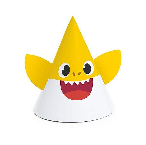 Chapéu Especial  - Festa Baby Shark - 08 unidades - Cromus - Rizzo Festas