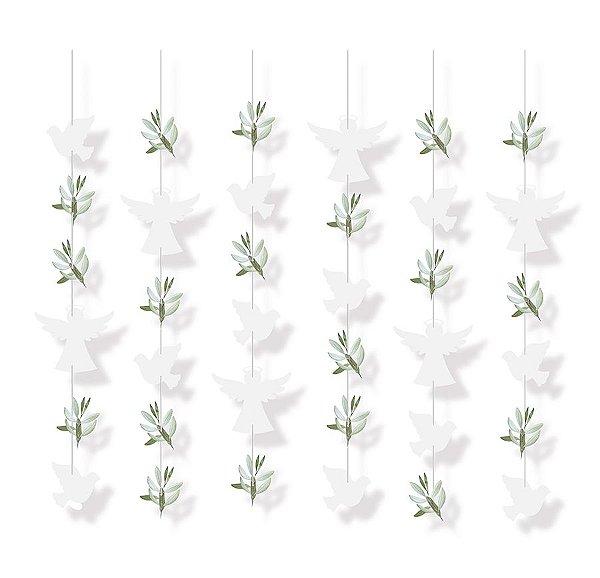 Cortina Decorativa - Festa Batizado 2 - 01 unidade - Cromus - Rizzo Festas