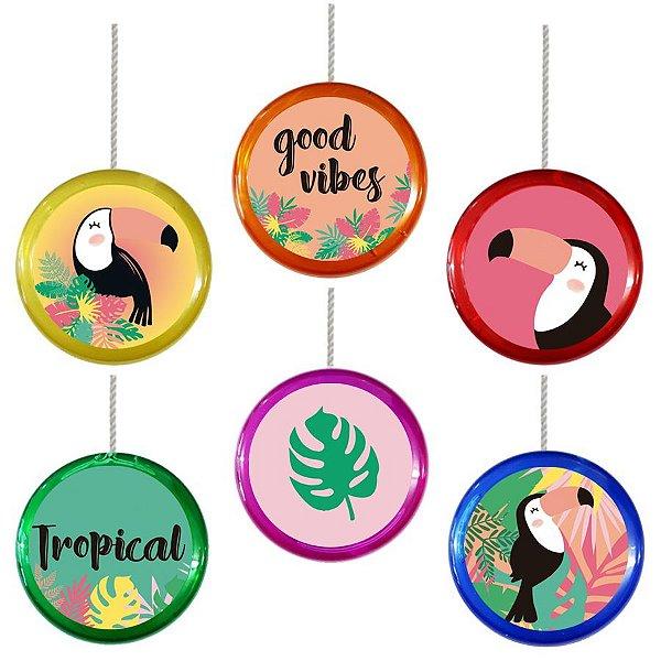 Ioiô para Lembrancinha Festa Tropical Tucano - 1 unidade - Rizzo Festa