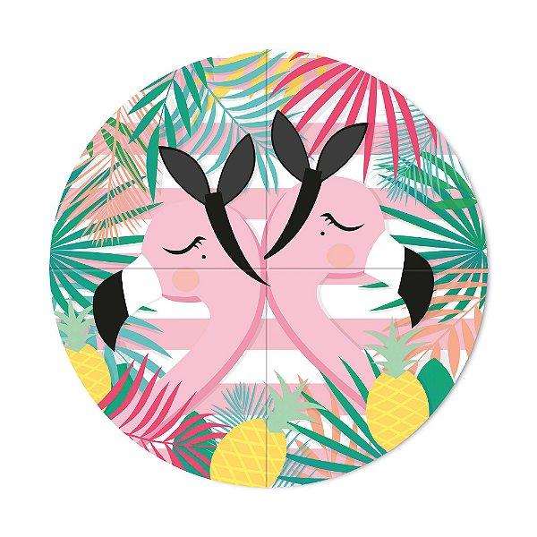 Painel Decorativo - Festa Tropical Flamingo - 01 unidade - Cromus - Rizzo Festas