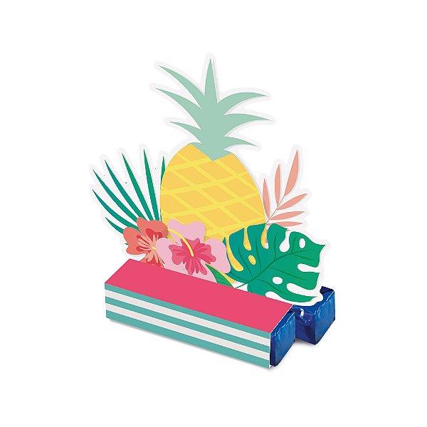 Caixa Bis - Festa Tropical Flamingo - 08 unidades - Cromus - Rizzo Festas