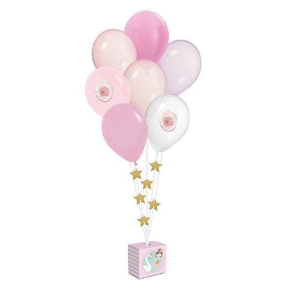 Kit Balões - Festa Bailarina 2 - 01 unidade - Cromus - Rizzo Festas