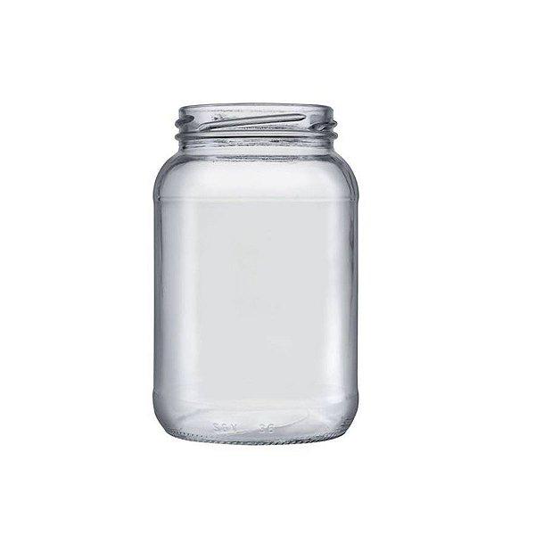 Pote de Vidro Conserva 600ml - 01 unidade - 13,5x7,5cm - Rizzo Embalagens