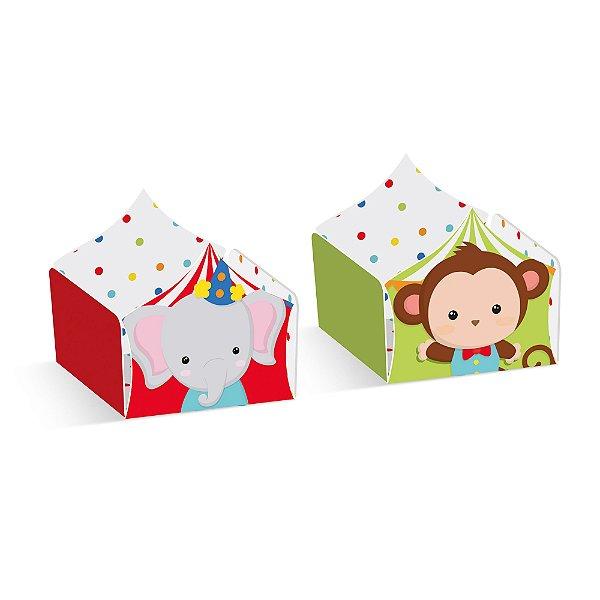 Forminha para Doces Composê Macaco e Elefante Festa Circo 2 - 24 unidades - Cromus - Rizzo Festas