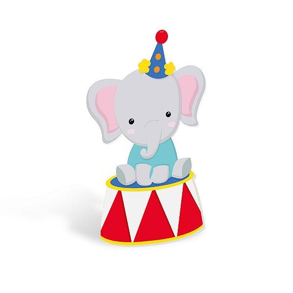 Silhueta Decorativa de Chão Elefante - Festa Circo 2 - 01 unidade - Cromus - Rizzo Festas