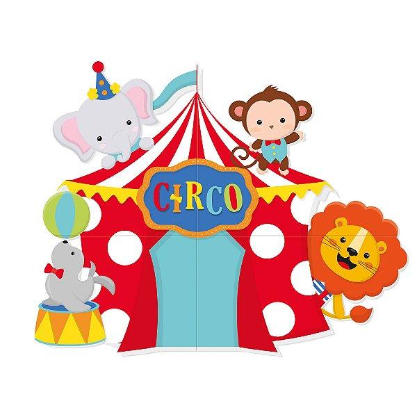 Painel 4 Lâminas - Festa Circo 2 - 01 unidade - Cromus - Rizzo Festas