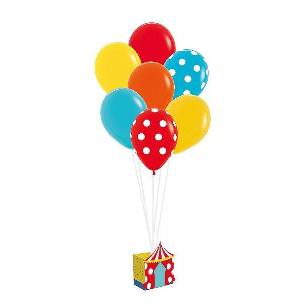 Kit Balões - Festa Circo 2 - 01 unidade - Cromus - Rizzo Festas