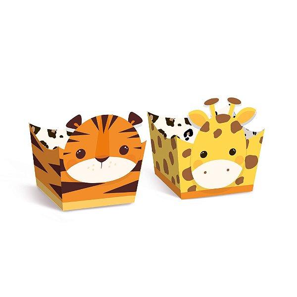 Forminha para Doces Composê Festa Safari 2 - Tigre e Girafa - 24 unidades - Cromus - Rizzo Festas
