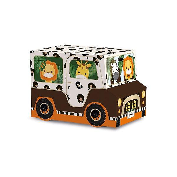 Caixa Jipe - Festa Safari 2 - 10 unidades - Cromus - Rizzo Festas