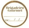 Etiqueta Brigadeiro Gourmet - 100 unidades - Decorart - Rizzo Embalagens