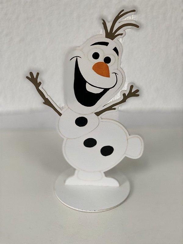 R25 - Decoração de MDF - Frozen - Olaf - 01 Unidade - Mara Móveis - Rizzo Festas