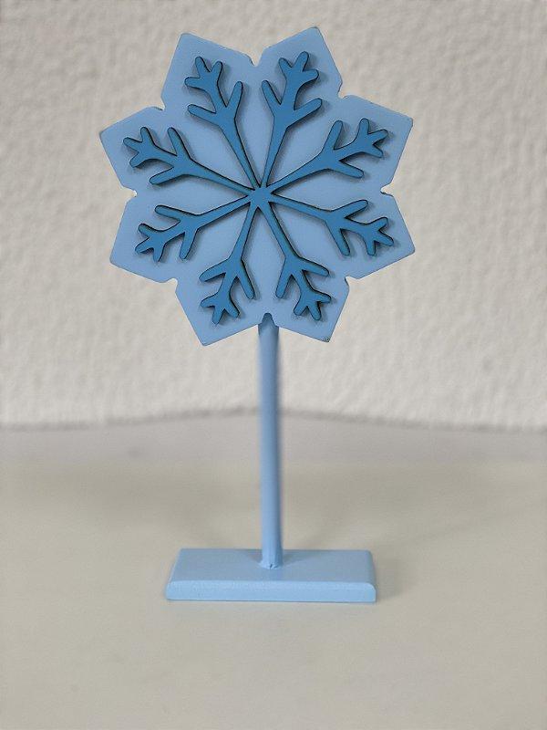 R25 - Decoração de MDF - Frozen - Floco de Neve - Azul - 01 Unidade - Mara Móveis - Rizzo Festas