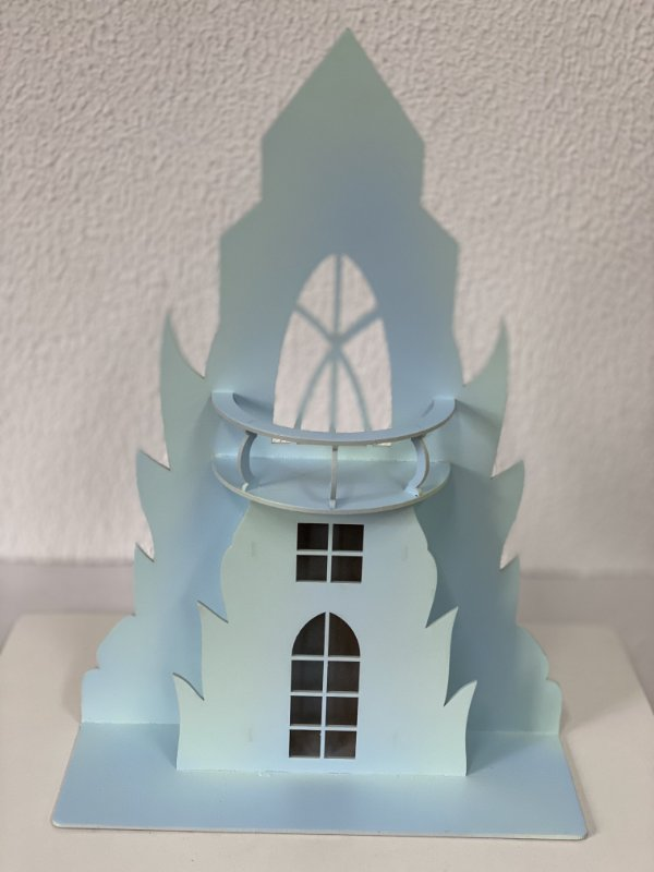 R25 - Decoração de MDF - Frozen - Castelo Frozen - 01 Unidade - Mara Móveis - Rizzo Festas