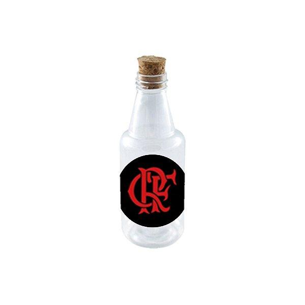 Garrafinha de Plastico 50ml com Tampa Rolha - Festa Flamengo - 10 Unidades - Rizzo Embalagens