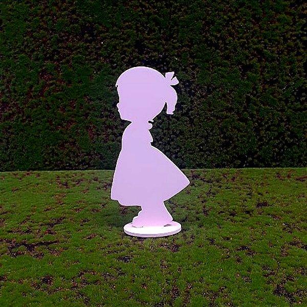 R25 - Decoração MDF - Menina - Rosa-  01 Unidade - Mara Móveis - Rizzo Festas