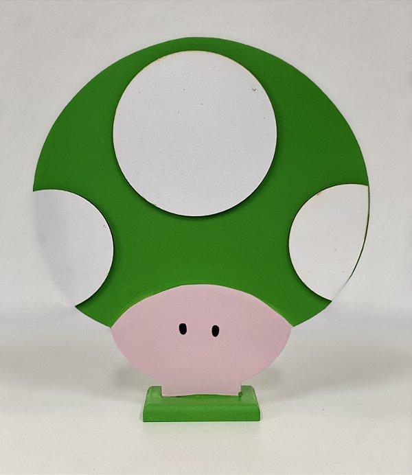 R25 - Decoração de MDF - Cogumelo Verde - 01 Unidade - Mara Móveis - Rizzo Festas