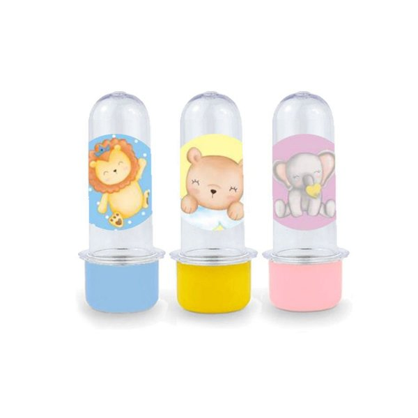 Mini Tubete Lembrancinha Festa Bichinhos Baby - 8cm - 10 unidades -  Rizzo Embalagens e Festas