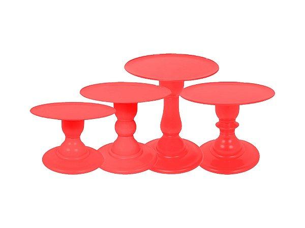 Boleira Mosaico - Liso - Vermelho - Tamanhos  P, M, G e GG - 01 Unidade - Só Boleiras - Rizzo Festas