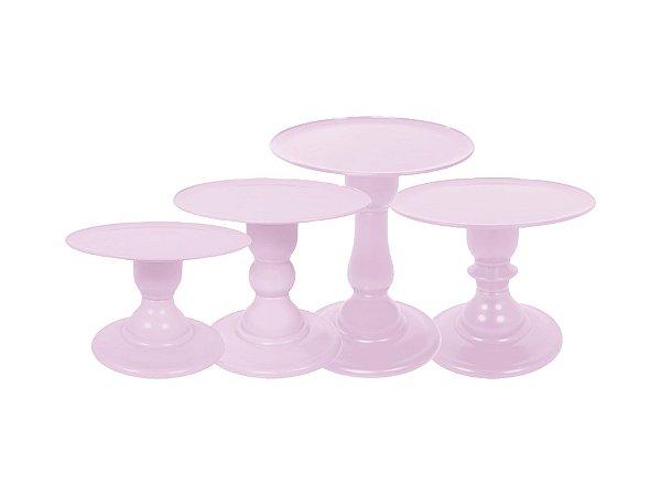 Boleira Mosaico - Liso - Rosa Claro - Tamanhos  P, M, G e GG - 01 Unidade - Só Boleiras - Rizzo Festas