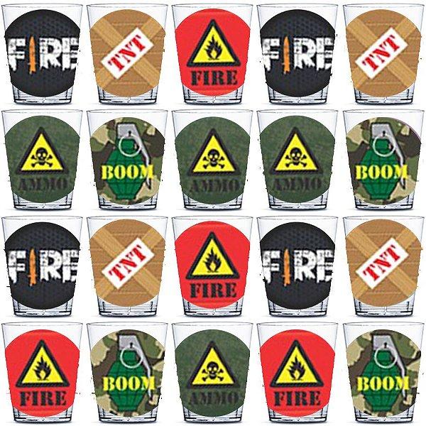 Copinho para Doces 40ml Festa Free Fire - 20 unidades - Rizzo Festas