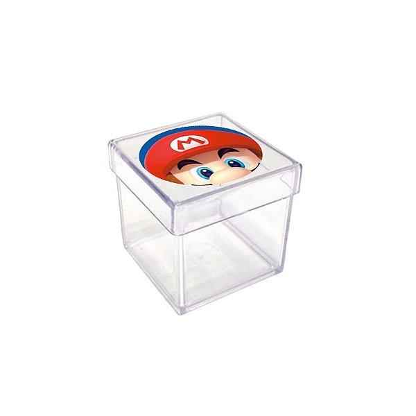 Caixinha Acrílica para Lembrancinha Festa Mario - 20 unidades - Rizzo Festas