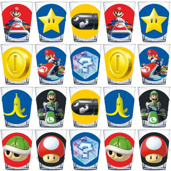 Copinho para Doces 40ml Festa Mario Kart - 20 unidades - Rizzo Festas