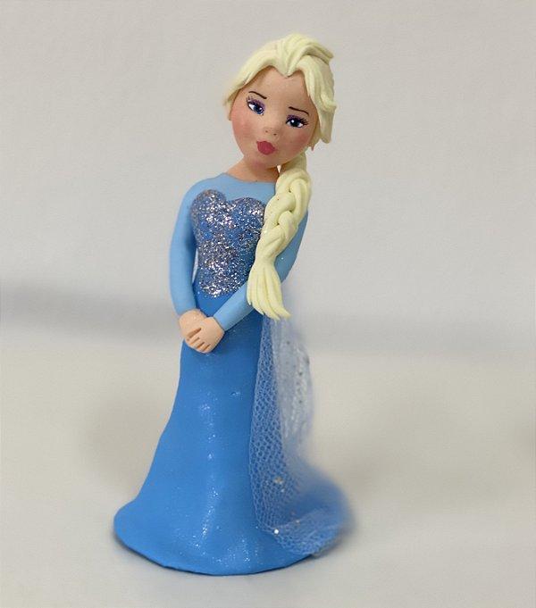 Enfeite Biscuit Elsa Frozen - 01 Unidade - Rizzo Festas
