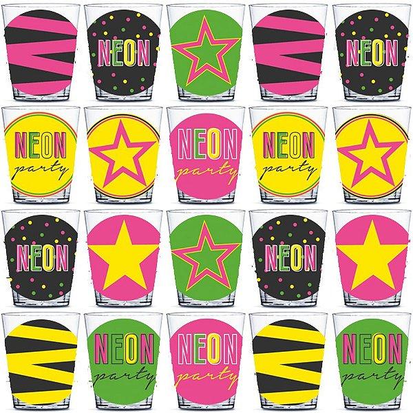 Copinho para Doces 40ml Festa Neon - 20 unidades - Rizzo Festas