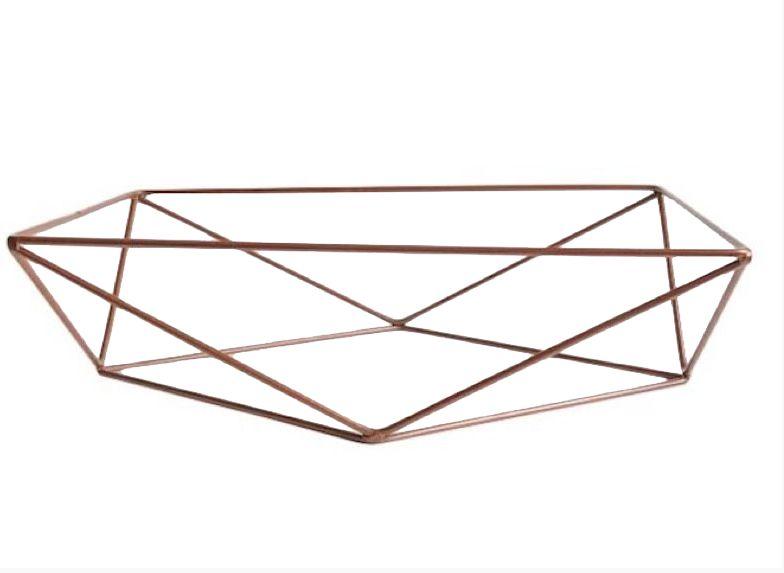 Base aramada triangular para bandeja - Cobre - Rizzo Festas