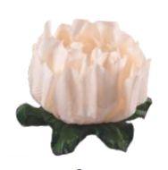Forminha para Doces Finos - Rosa Maior Creme - 40 unidades - Decora Doces - Rizzo Festas